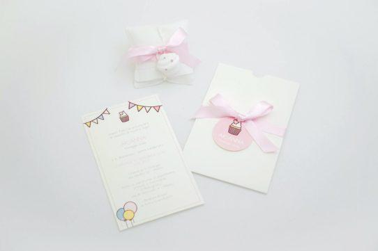 Battesimo cup cake - Invito